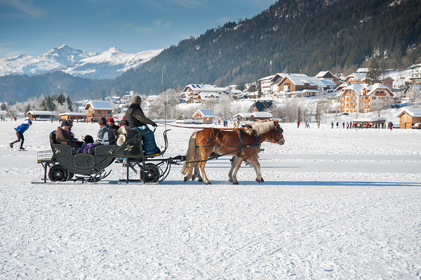 Winter fun on the Weissensee