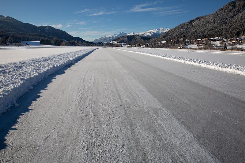 Ice skating trail - Lake Weissensee