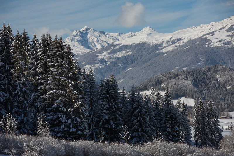 The beautiful setting of the Weissensee Nature Park
