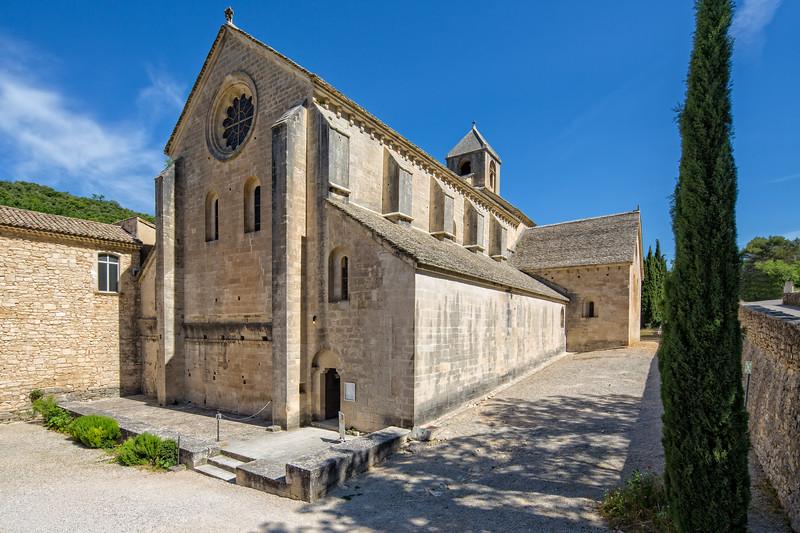 Front of Abbaye Notre-Dame de Senanque
