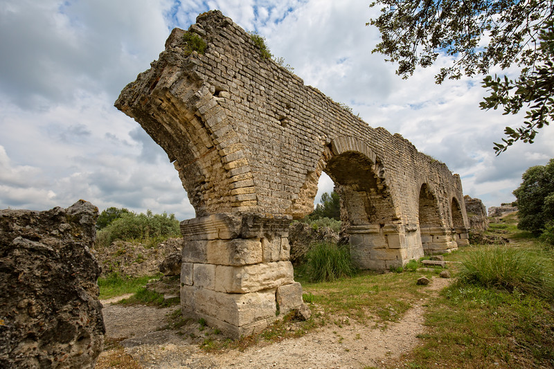 The Historical Monument Aqueduct Romain de Barbegal