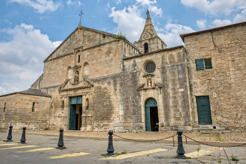 Notre Dame de la Major is a Gothic style church in Arles.