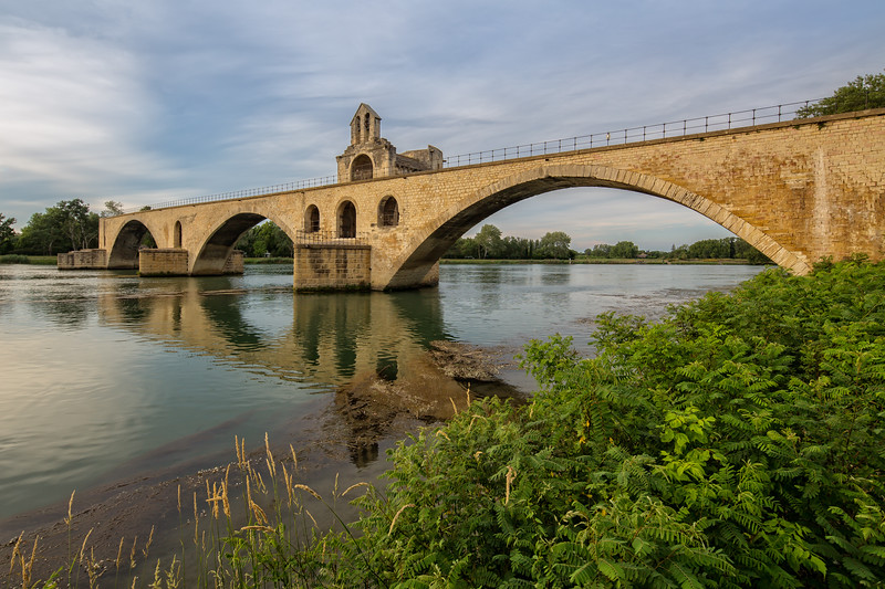 Pont Saint-Bénézet in Avignon at sunset