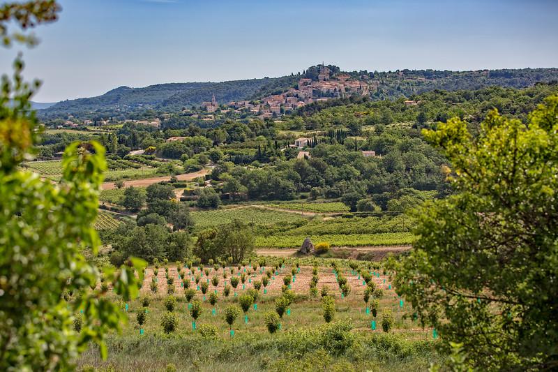 View of the village Bonnieux