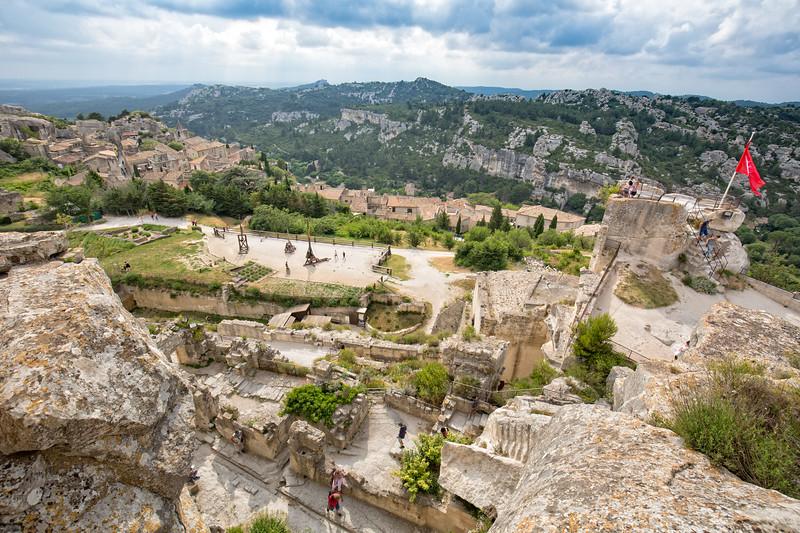 On the top of castle at Baux-de-Provence