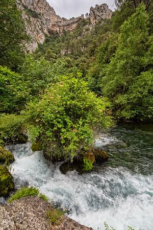 Rocks an vegetation on the River Sorgue