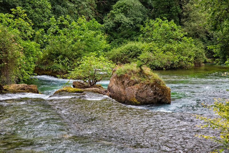 Rocks on the river Sorgue