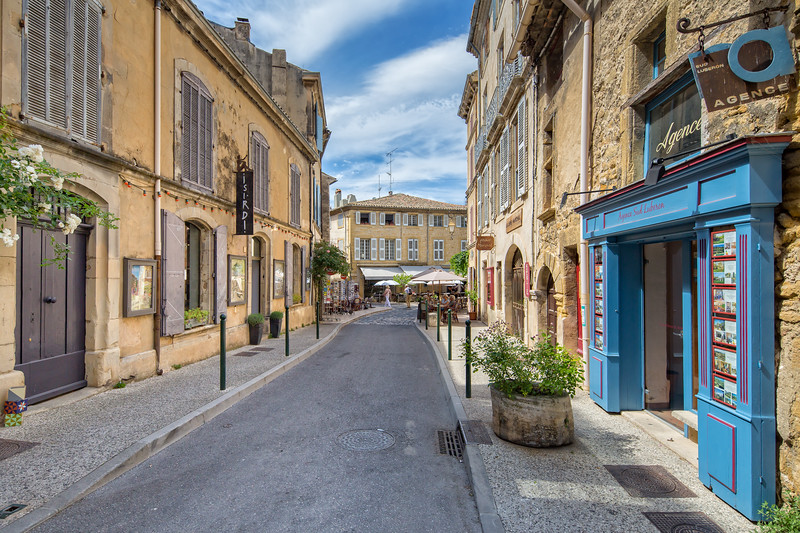 Street in small town of Lourmarin