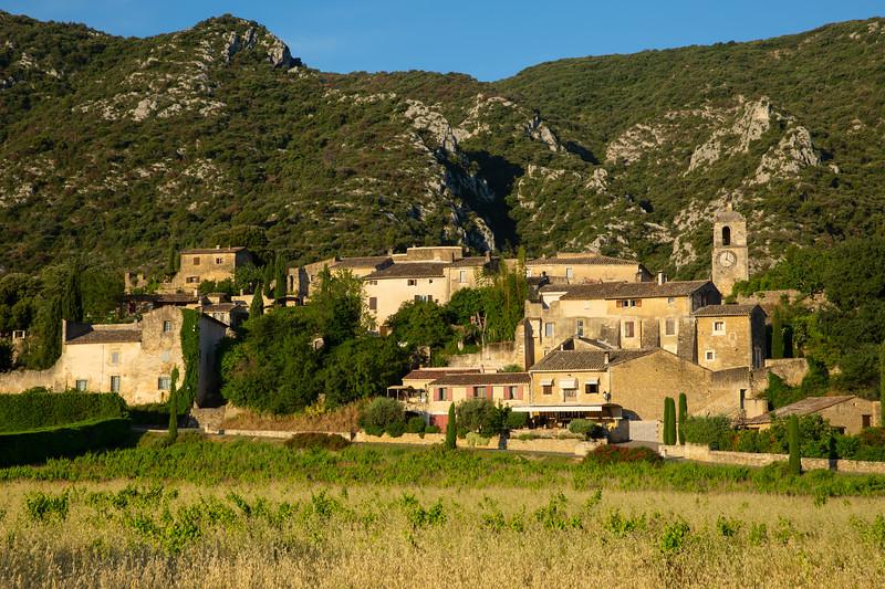 The old hilltop village Maubec-Vieux