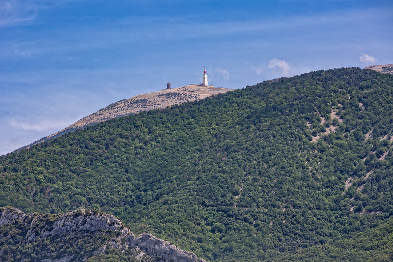 Telecommunications Tower on the Summit of the Mont Ventoux