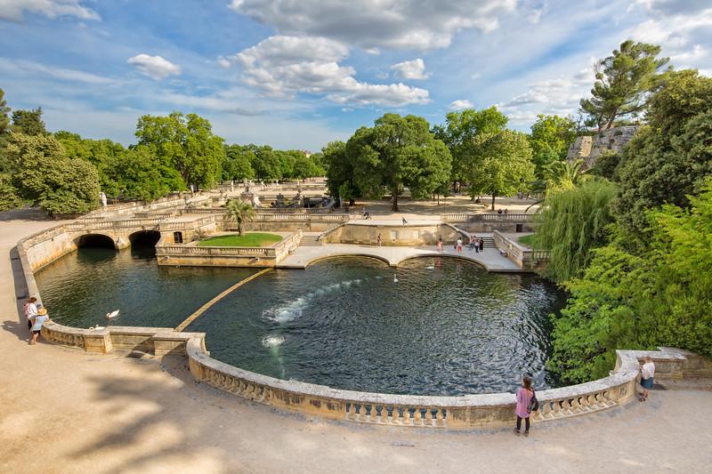 View over the Jardins de la Fontaine