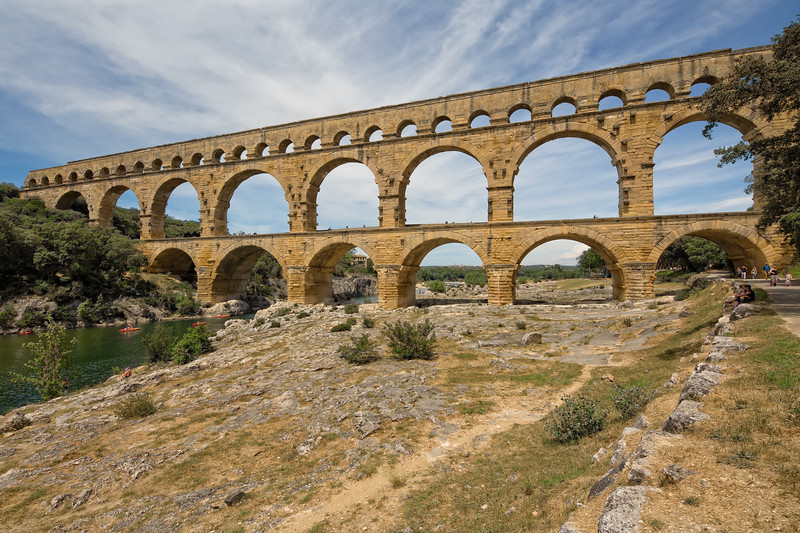 Pont du Gard is one of the most impressive samples of Roman architecture
