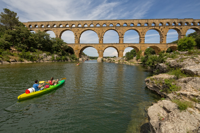 Kayaking under the 2000 year old Roman aqueduct