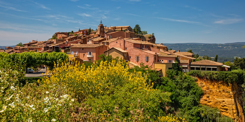 The ochre-red village of Provence