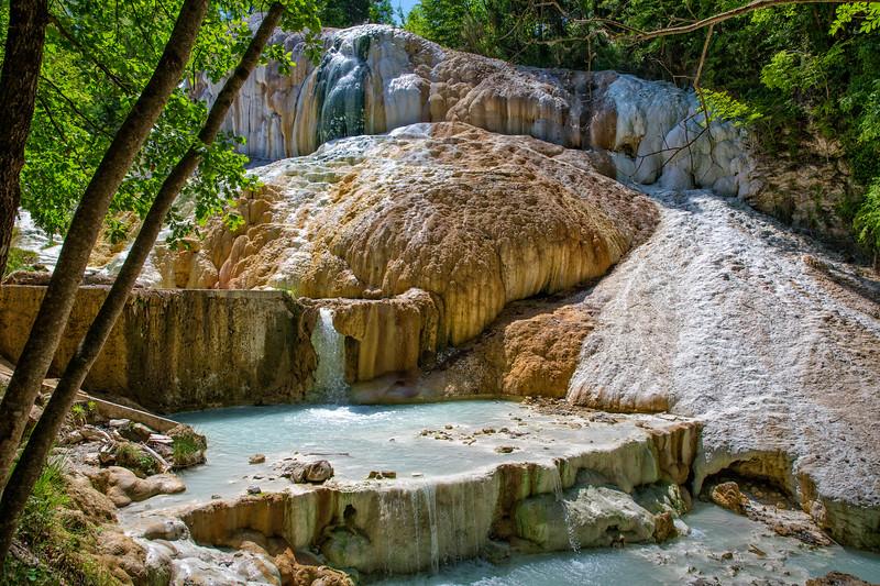 Natural hot springs in Bagni San Filippo - Fosso Bianco