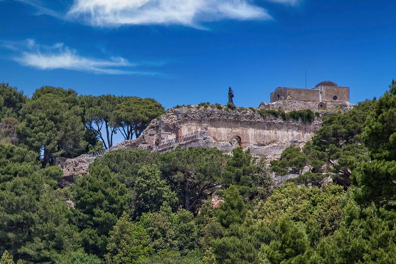 Ancient roman ruins of Villa Jovis