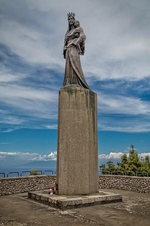 Statue of the Madonna at Villa Jovis