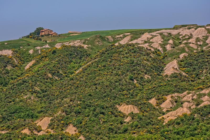 Beautiful view of the hilly landscape of the Crete Senesi