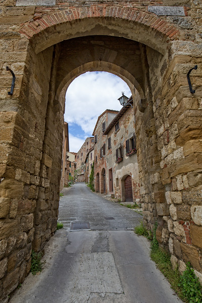 Medieval entrance in the city.