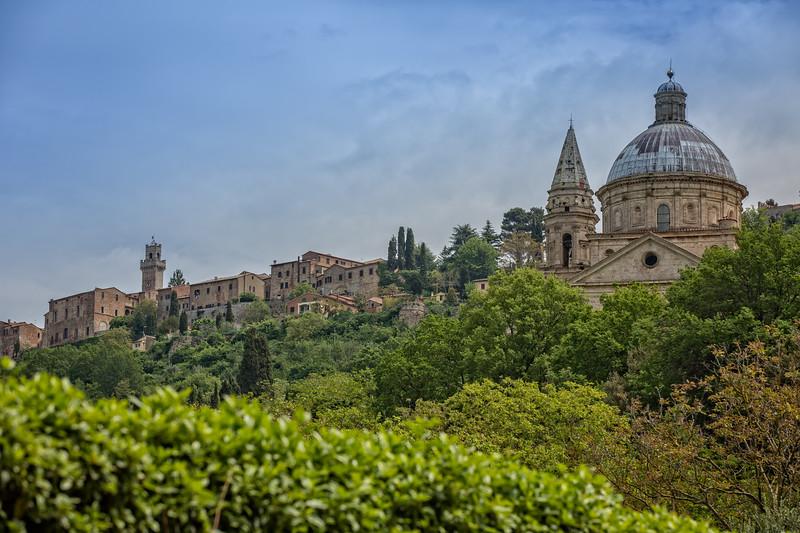 Church of the Madonna di San Biagio at the gates of Montepulciano.