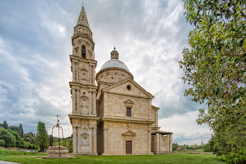 The Renaissance church Madonna di San Biagio.