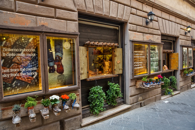 Old fashioned footware shop.