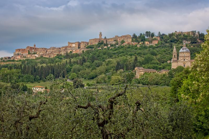 The medieval village of Montepulciano.