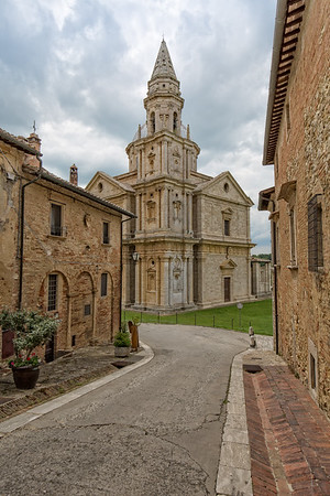 View of the Sanctuary of the Madonna di San Biagio.