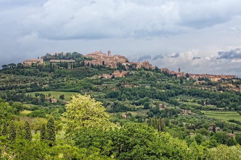 The medieval village of Montepulciano