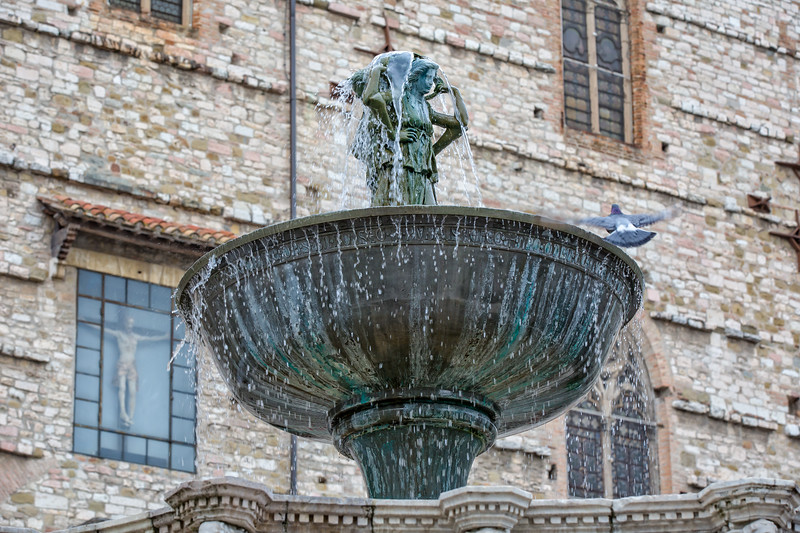 Fountain Maggioreis in the major square of Perugia