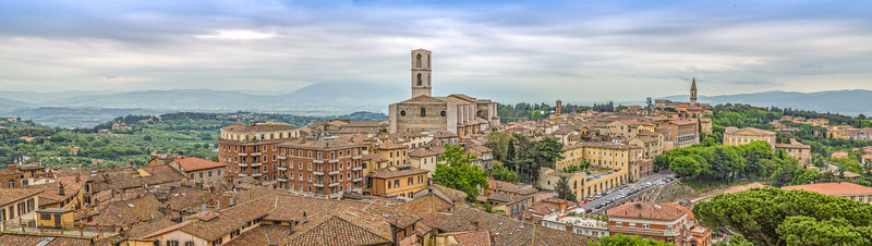 Perugia is a lively medieval walled hill town