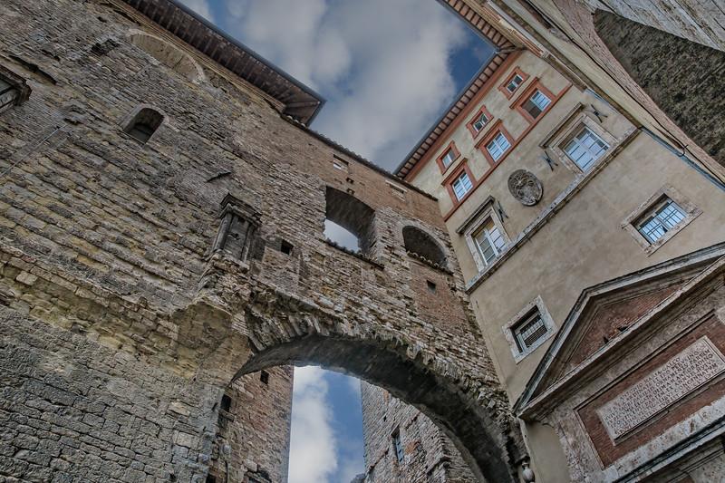 Ancient monumental architecture in Perugia