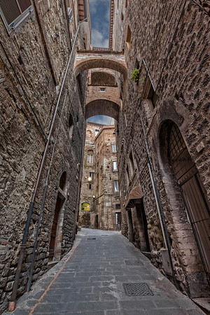 Ancient monumental architecture in Perugia