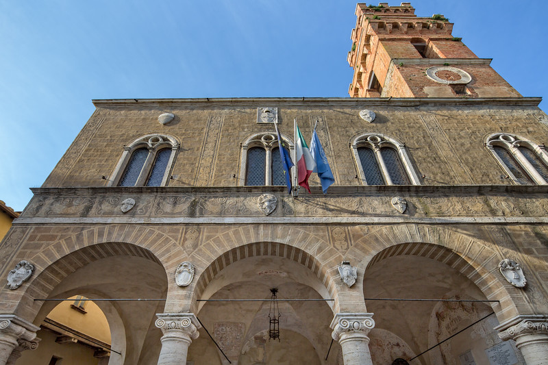 The historic town hall of Pienza