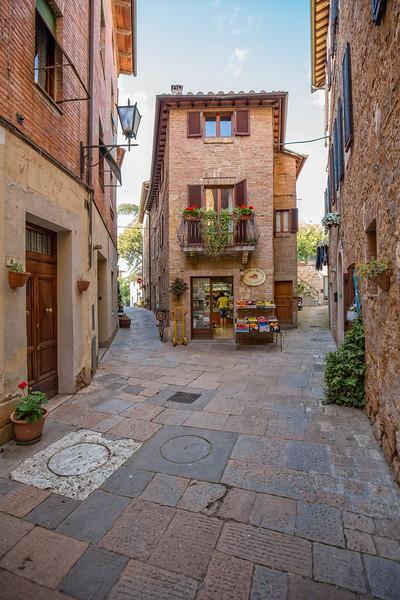 Small shop at captivating narrow street