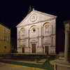 Santa Maria Assunta on the Piazza Pio II by night
