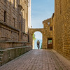 Alley in the old Tuscany village Pienza