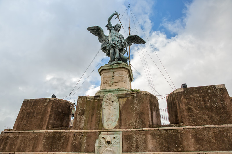 The magnificent statue of the Archangel Michael