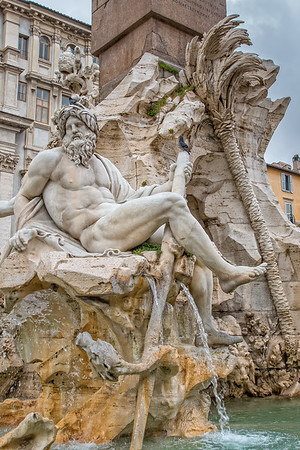Four Rivers fountain on the Piazza Navona in Rome
