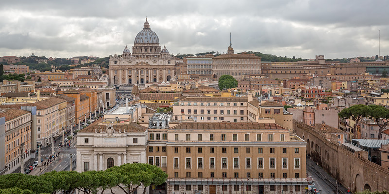 View of St. Peter's Basilica in the Vatican
