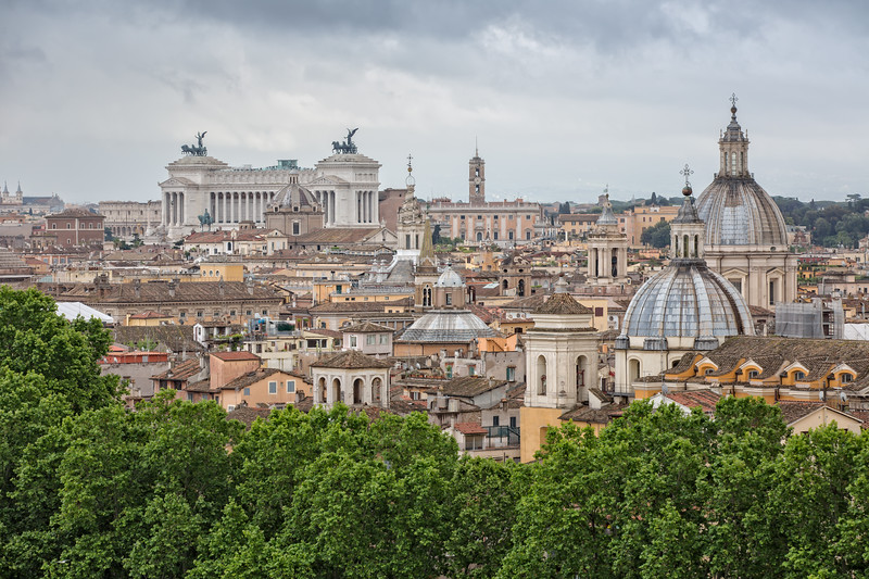 Cityscape of Rome from Castel Sant'Angelo
