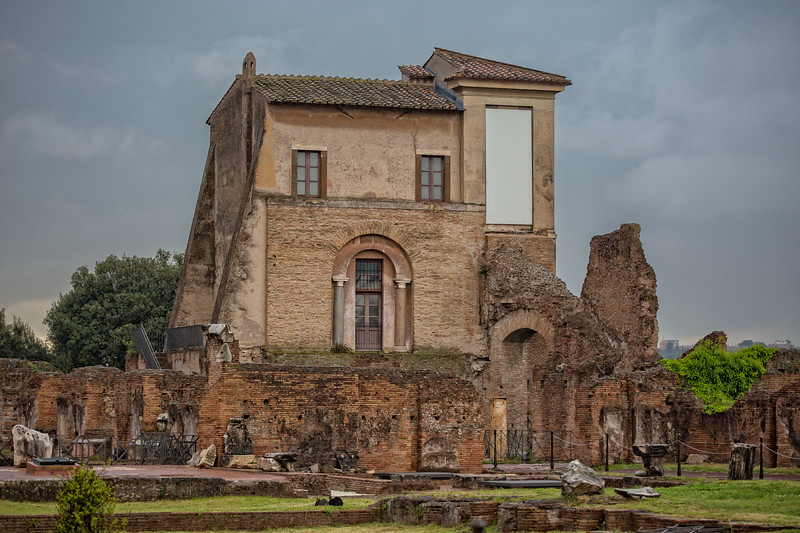 Ancient Roman ruins on the Palatine hill in Rome