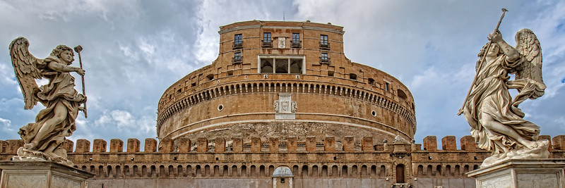 Front view of the beautiful Castel Sant'Angelo