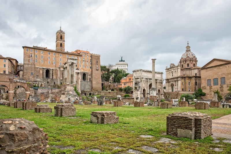 View of Rome with the Capitoline hill