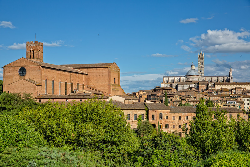 View of the historic Centre of Siena