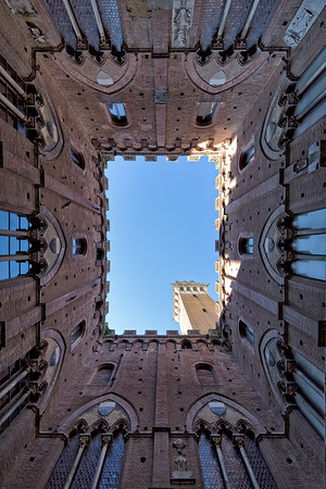 Torre del Mangia - City Hall Bell Tower - in Siena