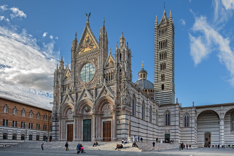Tourists visit the Cathedral of Siena