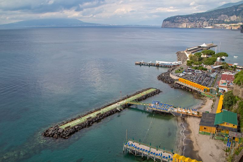 View on the beaches and the Marina Grande of Sorrento