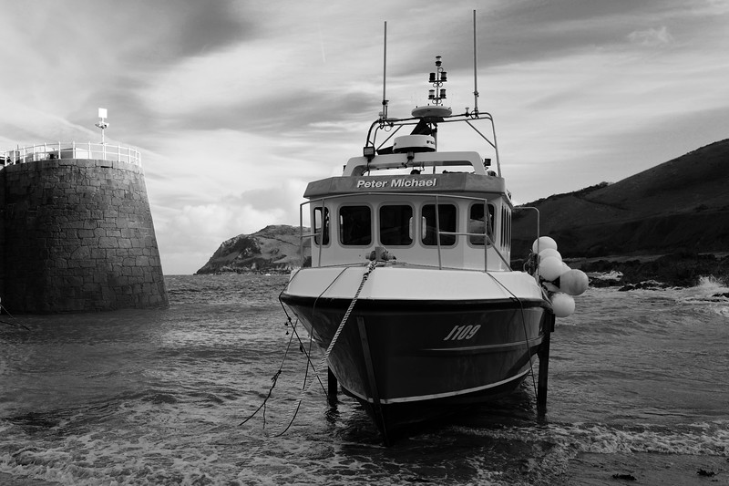 Boat Named Peter Michael, Bonne Nuit Bay, Jersey
