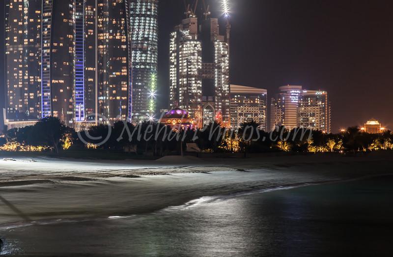 Emirates Palace Beach at Night.